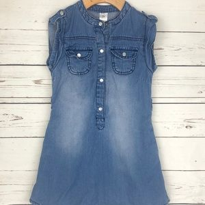 Carters Sleveless Denim Pearl Snap Dress Top - 5t